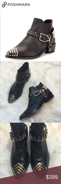 Ivy Kirzhner Studded Santa Fe Booties Absolutely beautiful boot by Ivy Kirzhner! Blogger favorite and sold out everywhere. Size 7. Studded detail and gold hardware. Best fits a US size 6.5-7. No trades!! Ivy Kirzhner Shoes Ankle Boots & Booties