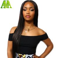 Virgin Brazilian Full Lace Human Hair Wigs For Black Women Silky Straight Full Lace Wigs With Baby Hair Glueless Lace Front Wig