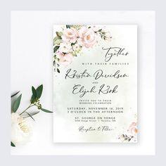 Wedding Invitation Suite Wedding Invite Set 5 x 7 Blush Wedding Invitation Sets, Invitation Suite, Shower Invitations, Invites, Wedding Programs, Wedding Signs, Blush Roses, Response Cards, Celebrity Weddings