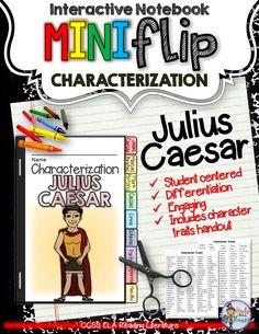 Julius Caesar: Interactive Notebook Characterization Mini Flip ($)