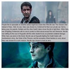 Neville Longbottom... this is deep.  Interesting take on that story line.