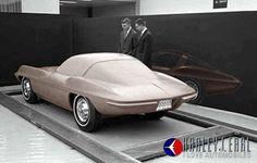 Corvette clay model