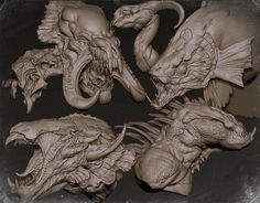 ZBrush sketchbook of Zhelong Xu