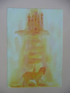 het levenswater Wet On Wet Painting, Grade 1, Art School, Painting Inspiration, Spirituality, Drawings, Illustration, Poster, Waldorf Education