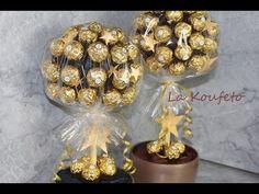 Σοκολατένιο δέντρο Ferrero Rocher Candy Tree DIY - YouTube