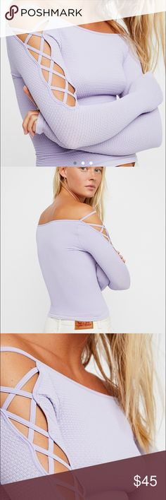 Free people Lace Up Sides Layering Top NWOT. Super cute, playful, and flattering lavender free people lace up sides layering top! Says size M/L but will also fit a size XS/S (which I usually wear!) Sells on the free people website for $58, so I would like to sell for as close to asking price as possible 🙂 feel free to ask comments and send offers! Free People Tops
