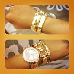 Our gold bracelets would go well with ANY watch. Add to your wrist candy & grab these bracelets from any of our Chicago locations for only $22-$36!