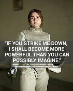 IF YOU STRIKE ME DOWN I SHALL BECOME MORE POWERFUL THAN YOU CAN POSSIBLY IMAGINE. #sometimesyouwinsometimesyoulearn http://aafa.me/1MwKi7v