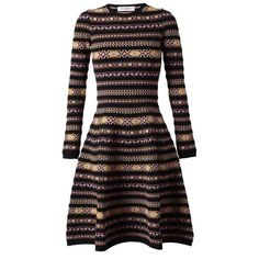 VALENTINO Tapestry Knitted Dress ($1,020) ❤ liked on Polyvore