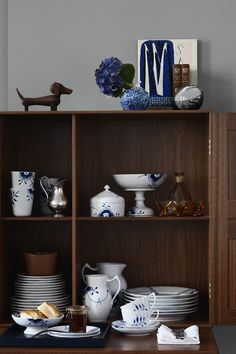 Stack your cabinet with the modern classics of Blue Fluted Mega