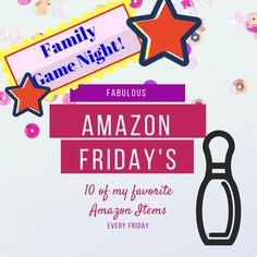 Fabulous Amazon Friday's! 10 of my favorite amazon items, every Friday! This week I am featuring Family Game Night!
