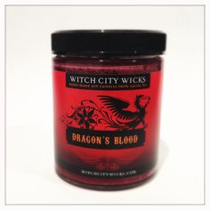 Dragon's Blood scented soy candle 6 oz jar