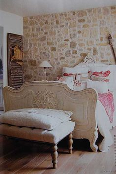 french style interior french country bedroom stone walls