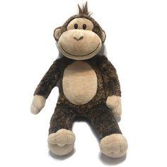 c6ca7ad58c7 Build A Bear Brown Monkey Stuffed Smiling Tuff of Hair 19 Inches Born 2010