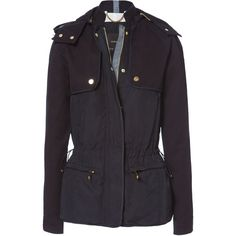Zara Jacket With Combination Yoke ($90) ❤ liked on Polyvore