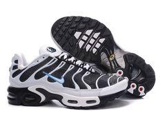 separation shoes 56dae 49fae Chaussures de Nike Air Max Tn Requin Femme Blanc Noir et Bleu Nike Tn Femme.  buy Free Shipping