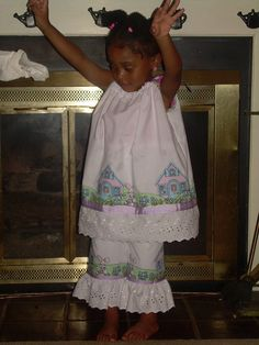 Girls Pillowcase Dress Ruffle Capri Pants by ibelieveicandesigns, $60.00