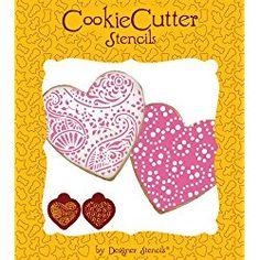Lace Heart Stencil Set (no cutter) by Designer Stencils Valentines Day Cookies, Valentine Heart, Heart Stencil, Crafts For Kids, Diy Crafts, Lace Heart, Heart Cookies, Heart Patterns, Beautiful Patterns