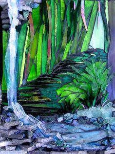 Beautiful blues and greens Fine Art Mosaics