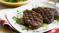 Griddled Stead with Wild Mushrooms