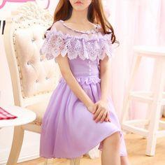 Сладкий шифоновое платье SE10022 - www.sanrense.com