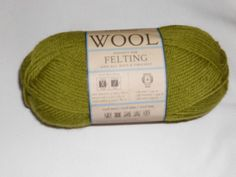 Lion Brand Wool Yarn    Color- Lemongrass by TheKnittingGnomeVT on Etsy