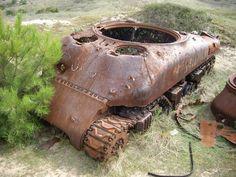 WHO-Tube: Biville France - Range Wreck Shermans - http://www.warhistoryonline.com/whotube-2/tube-biville-france-range-wreck-shermans.html