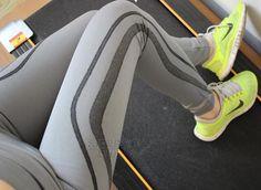 Elastic Waist Leggings Gray & Black - HerFitness - 1