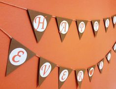 Happily Ever After - Flag Banner with twine by IttyBittyBoutik on Etsy