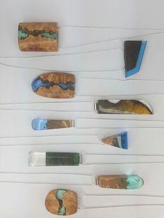 Resin pendants mix of colours ArtfulResin.etsy.com