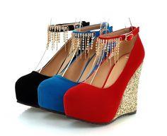 Womens Elegant Close Toe Pumps Wedge Heels