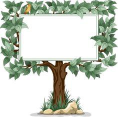TREE BLANK SIGN