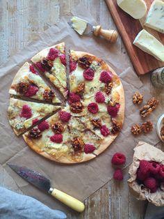 Pizza de frambuesas