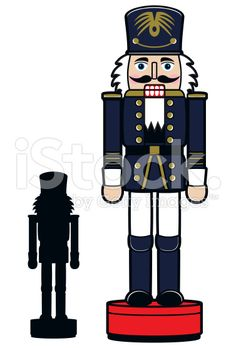 Christmas Nutcracker & Silhouette royalty-free stock vector art