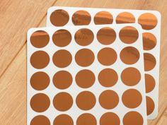 Kupfer+Konfetti+50er+2,5cm+Punkte+von+Lovely+Bird+auf+DaWanda.com
