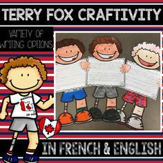 This product includes a great activity in French OR English that you can do with your class when remembering and celebrating Terry Fox's accomplishments and mission. The CRAFTIVITY includes three different writing options for various levels of French or Scarecrow Crafts, Fox Crafts, French Teaching Resources, Teaching French, Vocabulary Cards, Vocabulary Activities, Writing Paper, Writing Prompts, Remembrance Day Art