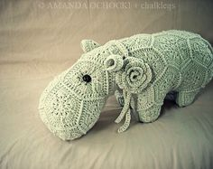 Love the flower! Ravelry: Project Gallery for Happypotamus The Happy Hippo Crochet Pattern pattern by Heidi Bears
