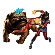Ms Marvel, Kamala Khan and Lockjaw Marvel Dc, Ms Marvel Kamala Khan, Marvel Avengers Alliance, Marvel Games, Marvel Avengers Assemble, New Avengers, Marvel Heroes, Dc Comics, Die Rächer