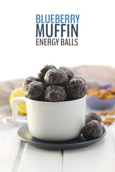 Davida @TheHealthyMaven shared her Blueberry Muffin Energy Balls recipe -- love that color!