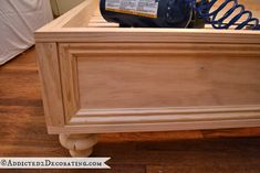 Make a raised platform bed frame - add the decorative trim