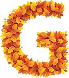 Monogram Alphabet, Letters And Numbers, Thanksgiving Decorations, Lettering Design, Autumn Leaves, Clip Art, Illustration, Flowers, Plants