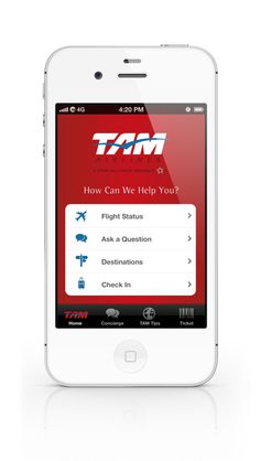 TAM Airlines Mobile App by Andres Schiling, via Behance
