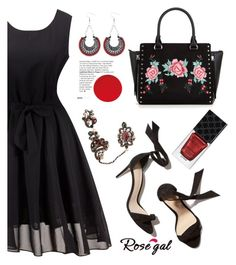 Black dress by deeyanago on Polyvore featuring polyvore fashion style Gucci clothing