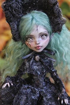 OOAK art doll Monster High custom repaint Lil Poe Collection A. Gibbons