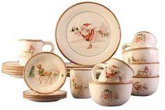 Wayfair 20-Piece Christmas Dinnerware Set.  #ad http://shopstyle.it/l/misp
