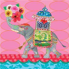 Clare Maddicott prints Colorful Elephant, Elephant Love, Elephant Illustration, Illustration Sketches, All About Elephants, Elephant Artwork, Indian Elephant, Whimsical Art, Animal Paintings