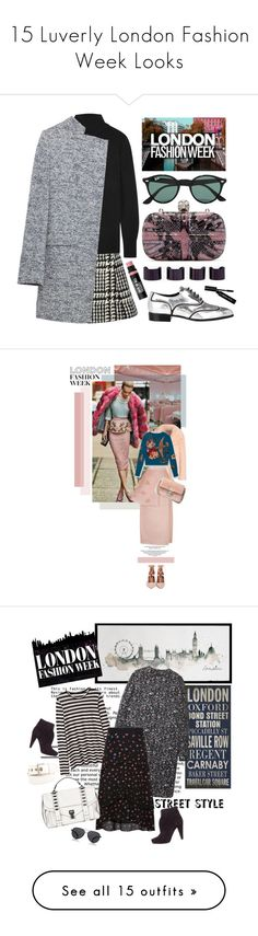 """15 Luverly London Fashion Week Looks"" by polyvore-editorial ❤ liked on Polyvore featuring LFW, fashionWeek, waystowear, Jill Stuart, Equipment, Zara, Alexander McQueen, Ray-Ban, Giuseppe Zanotti and Bobbi Brown Cosmetics"