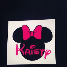 A personal favorite from my Etsy shop https://www.etsy.com/listing/477253980/personalized-minnie-decal-disney-yeti