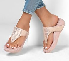 Weather Wear, Warm Weather, Prom Girl Dresses, Skechers Relaxed Fit, Fresh Shoes, Peep Toe Shoes, Designer Sandals, Pink Fashion, Women's Fashion
