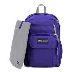 JanSport Classic Digital Student BACKPACK Solid Color Violet Purple